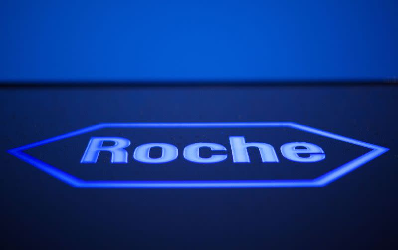 FILE PHOTO: FILE PHOTO: Logo of Swiss pharmaceutical company Roche is pictured in Rotkreuz