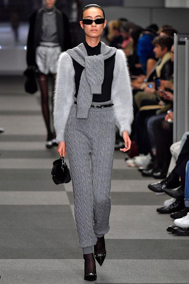fdc7cbc79e45  p Model in the Alexander Wang FW18 show wearing black sunglasses made in  collaboration
