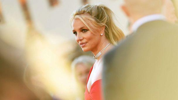 PHOTO: Britney Spears arrives for the premiere of 'Once Upon a Time... in Hollywood' in Hollywood, Calif., July 22, 2019.  (Valerie Macon/AFP via Getty Images, FILE)