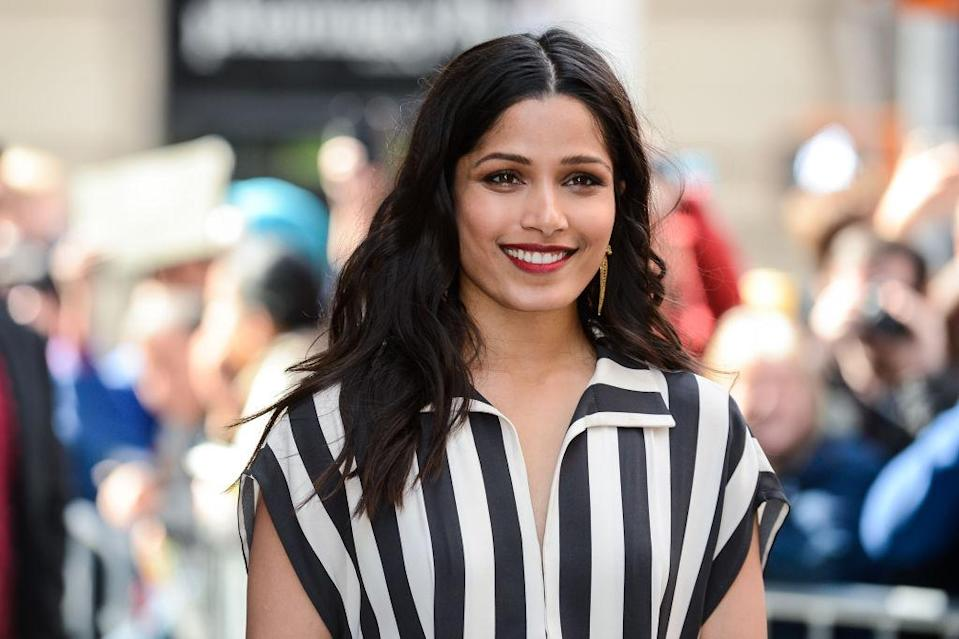 Freida Pinto wore a millennial pink pantsuit, and we are here for it