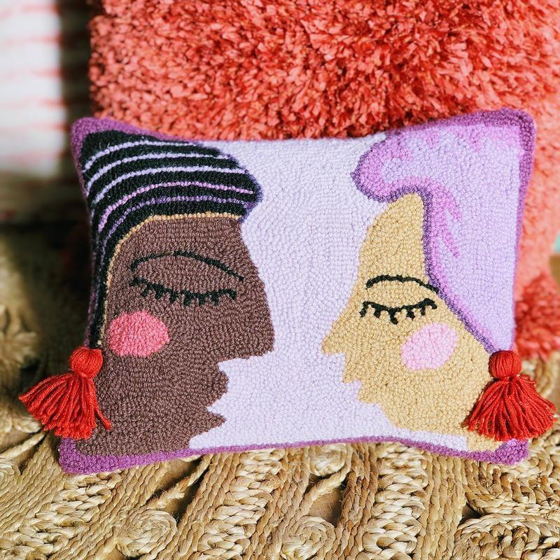 """<p>This cute <a href=""""https://www.popsugar.com/buy/Duet-Hook-Pillow-Justina-Blakeney-581014?p_name=Duet%20Hook%20Pillow%20by%20Justina%20Blakeney&retailer=jungalow.com&pid=581014&price=48&evar1=casa%3Aus&evar9=45784601&evar98=https%3A%2F%2Fwww.popsugar.com%2Fhome%2Fphoto-gallery%2F45784601%2Fimage%2F47575634%2FDuet-Hook-Pillow-by-Justina-Blakeney&list1=shopping%2Cproducts%20under%20%2450%2Cdecor%20inspiration%2Caffordable%20shopping%2Chome%20shopping&prop13=api&pdata=1"""" class=""""link rapid-noclick-resp"""" rel=""""nofollow noopener"""" target=""""_blank"""" data-ylk=""""slk:Duet Hook Pillow by Justina Blakeney"""">Duet Hook Pillow by Justina Blakeney</a> ($48) """"is all about sisterhood, lifting each other up, holding it down for one another, unspoken understanding, harmony, and yes... tassel earrings,"""" the site states. We love that!</p>"""