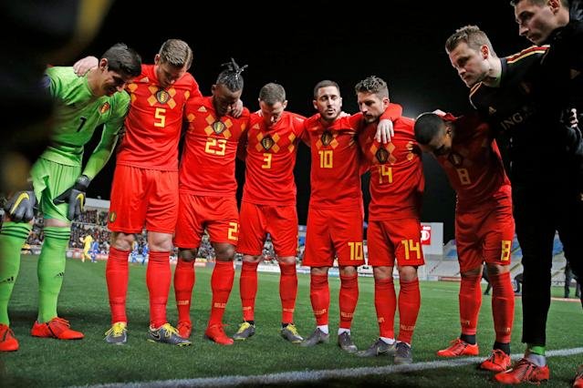 """Led By Eden Hazard (10), Belgian's so-called """"golden generation"""" may have its last shot at winning a major tournament come Euro 2020. (Getty)"""