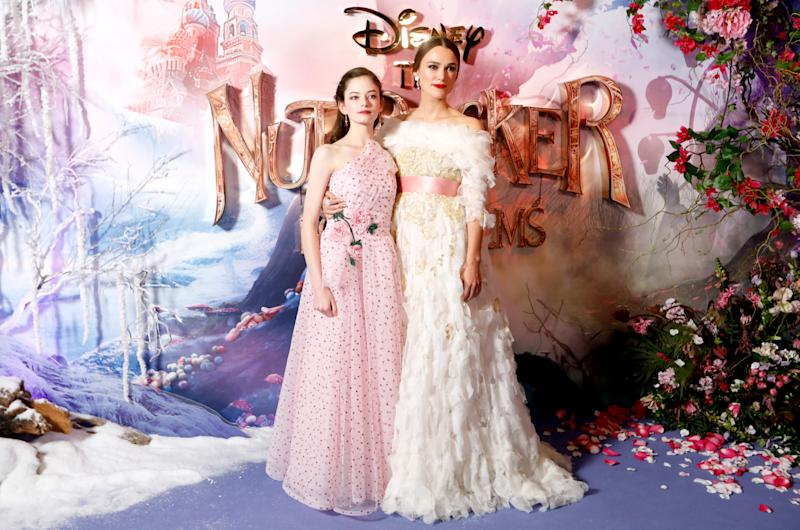 Mackenzie Foy (left) and Keira Knightley at the European premiere of The Nutcracker And The Four Realms in London (David Parry/PA)