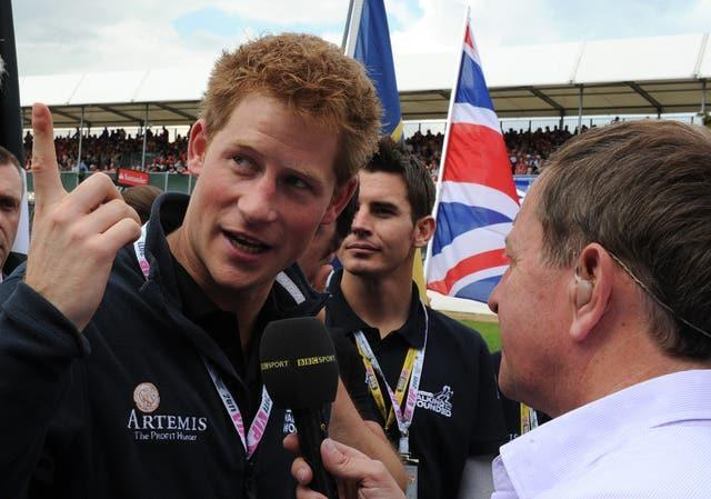 Brundle interviewing Prince Harry during one of his many gridwalks