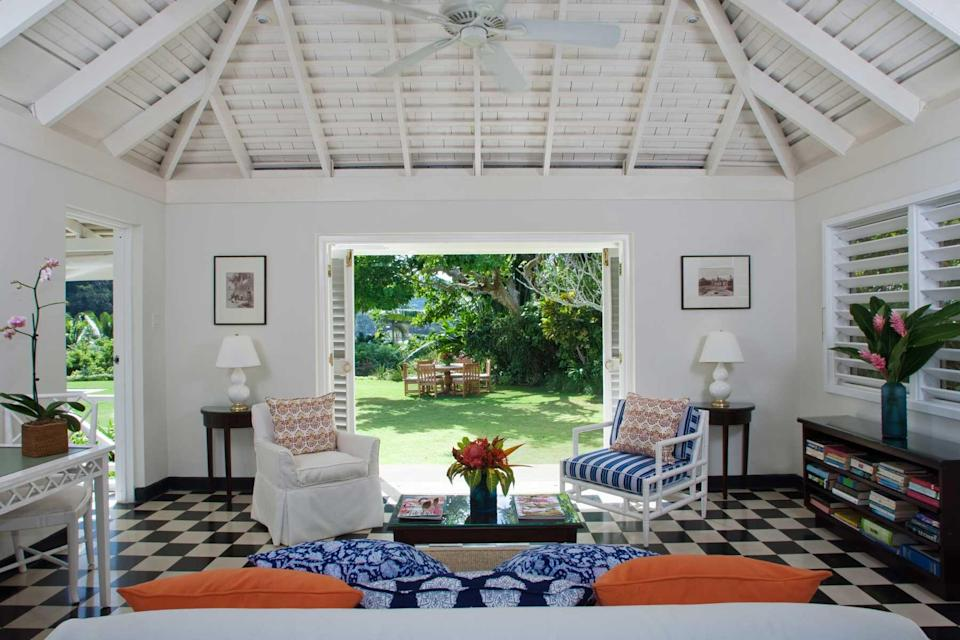 A guest villa at Round Hill Hotel & Villas, voted one of the best hotels in the world