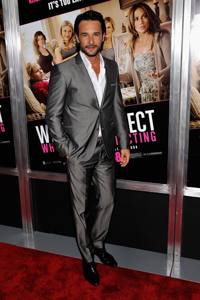 """NEW YORK, NY - MAY 08:  Rodrigo Santoro attends the """"What To Expect When You're Expecting"""" New York Screening at AMC Lincoln Square Theater on May 8, 2012 in New York City.  (Photo by Stephen Lovekin/Getty Images)"""