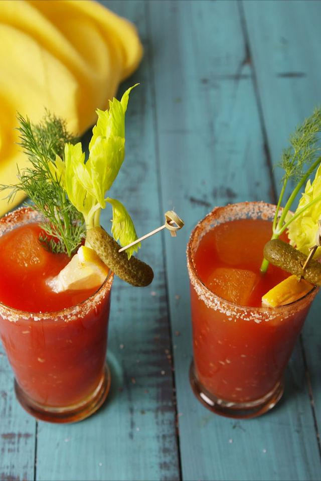 <p>This bloody mary has a dilly little secret. ]]>😉