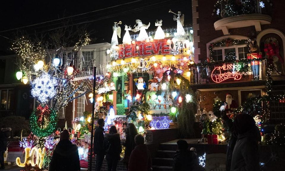 Holiday lights and decorations in Brooklyn's Dyker Heights neighborhood this year.