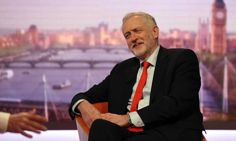 Labour leader Jeremy Corbyn on The Andrew Marr Show.