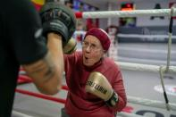 Nancy Van Der Stracten boxing to fight Parkinson's disease
