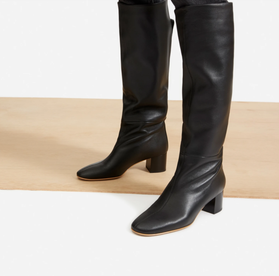The Knee-High boot in Black.