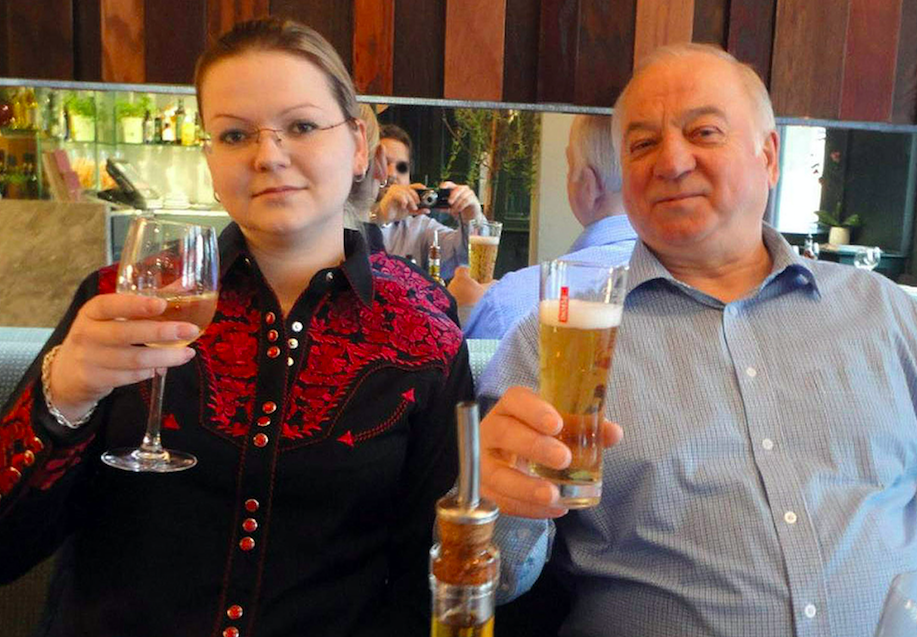 <em>The nerve agent used to poison Sergei and Yulia Skripal was delivered in a liquid form (Rex)</em>
