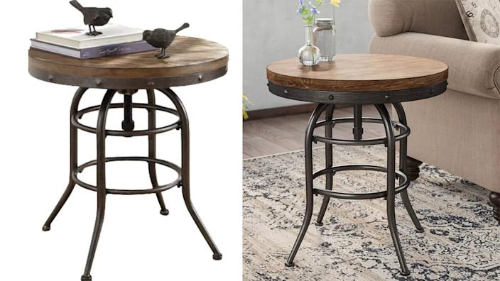 This end table is practical yet also really stylish.