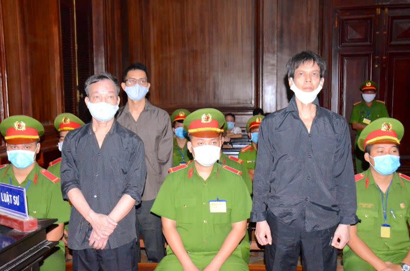 FILE PHOTO: Freelance journalists face trial in Ho Chi Minh City