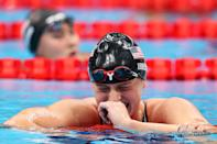 <p>USA swim star Katie Ledecky earns gold in the Women's 1500m Freestyle Final at Tokyo Aquatics Centre on July 28.</p>