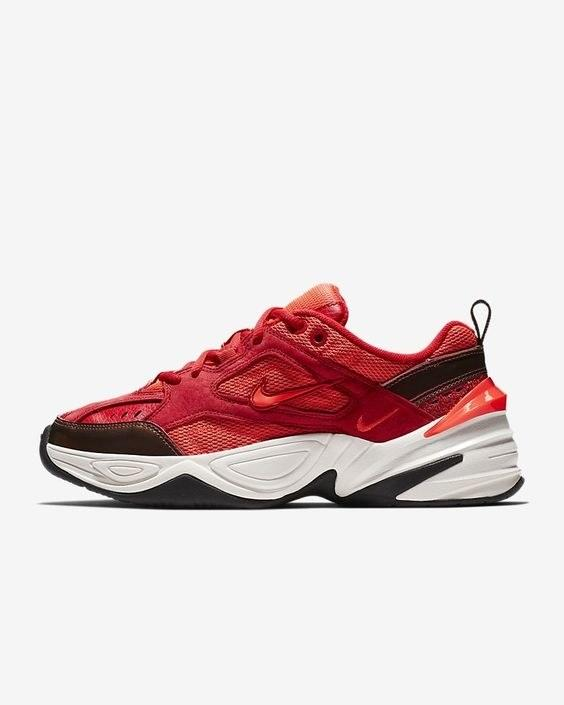 "Every since I saw our social media manager rock this, I was highly influenced. $110, Nike. <a rel=""nofollow"" href=""https://www.nike.com/t/m2k-tekno-womens-shoe-MNL6C0/AV7030-600"">Get it now!</a>"