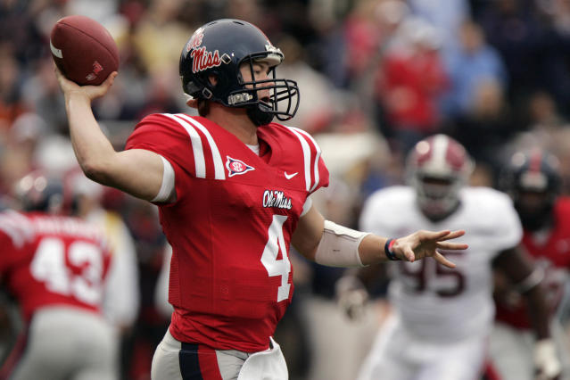 Jevan Snead played quarterback at Texas and Ole Miss before a brief stint with the Tampa Bay Bucs. (AP Photo/Rogelio V. Solis)