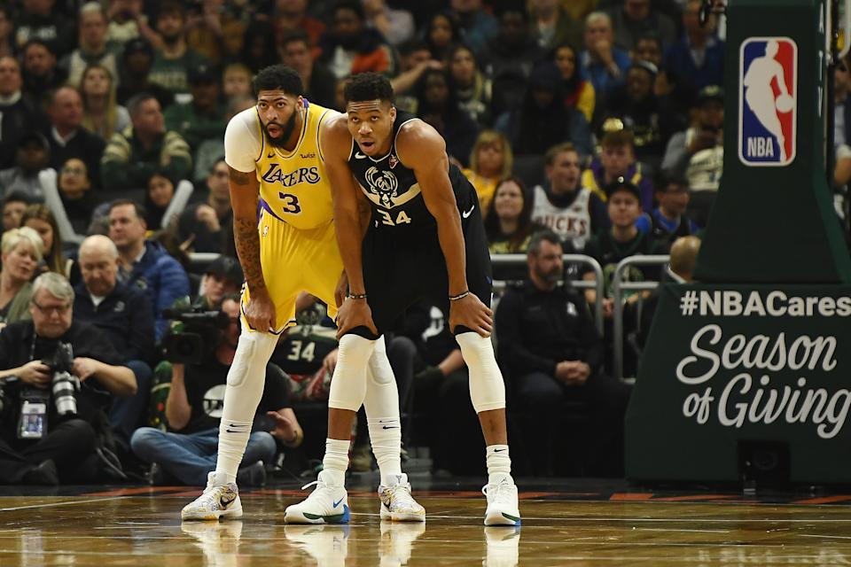 Anthony Davis and Giannis Antetokounmpo could secure their Hall of Fame candidacies by season's end. (Stacy Revere/Getty Images)