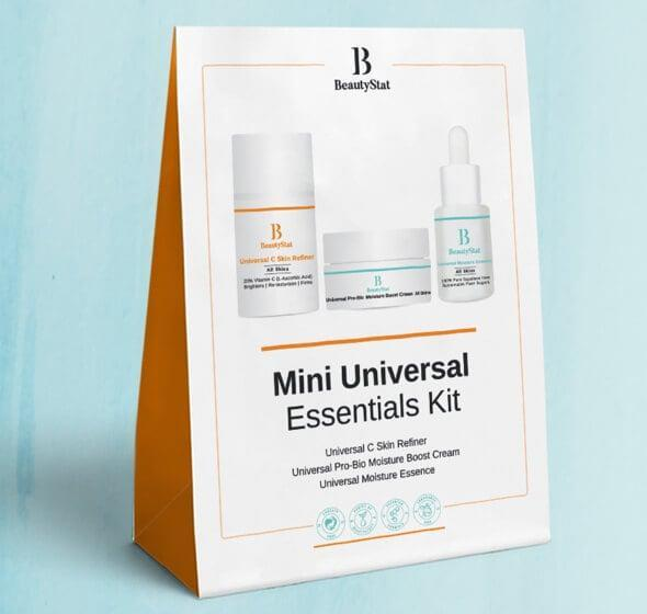"""<p>""""Formulated by a veteran cosmetic chemist who's created some of the biggest skin-care launches on the market, you can feel good about gifting the <span>Beautystat Mini Universal Essentials Kit</span> ($39) to anyone who's after healthy skin this holiday season (so . . . just about everyone?). It includes the editor-approved vitamin C serum, a hydrating face cream, and the brand's latest essence, comprised of 100 percent squalane oil. In other words: it's a one-two-punch to glowing skin."""" - KC</p>"""