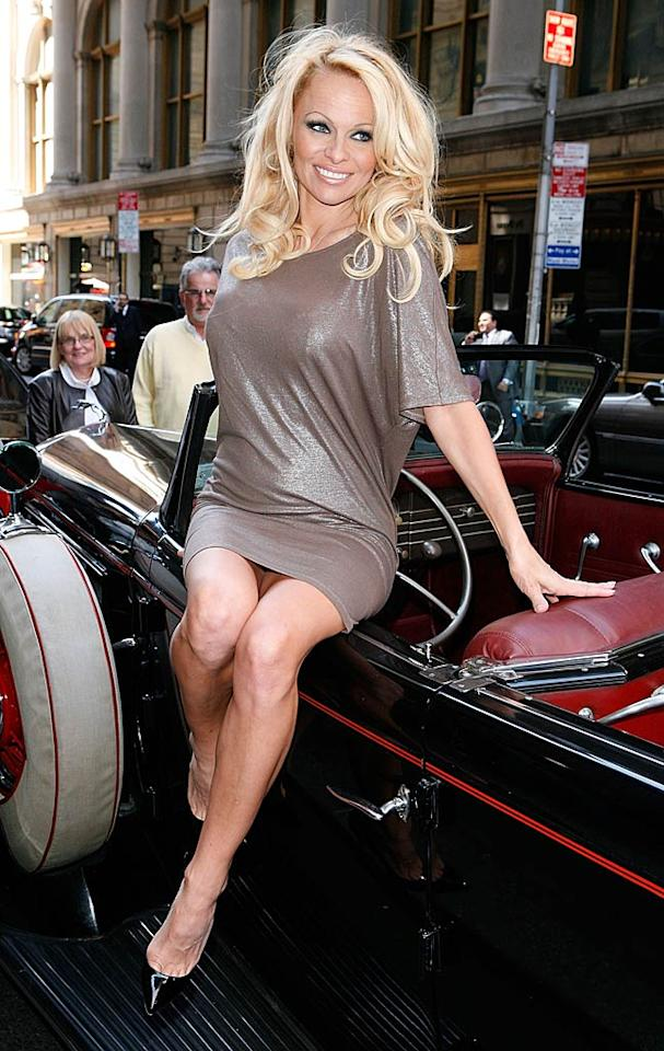 "Pamela Anderson turns 44 <a href=""http://www.wireimage.com"" target=""new"">WireImage.com</a> - April 30, 2011"