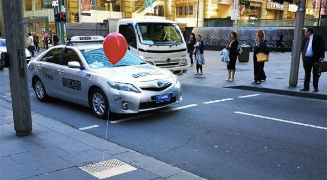 Red balloons were popping up around Sydney earlier this month. Source: Twitter
