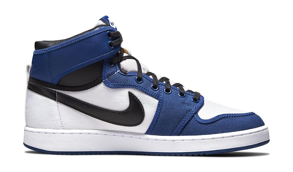 """The medial side of the Air Jordan 1 KO """"Storm Blue."""" - Credit: Courtesy of Nike"""