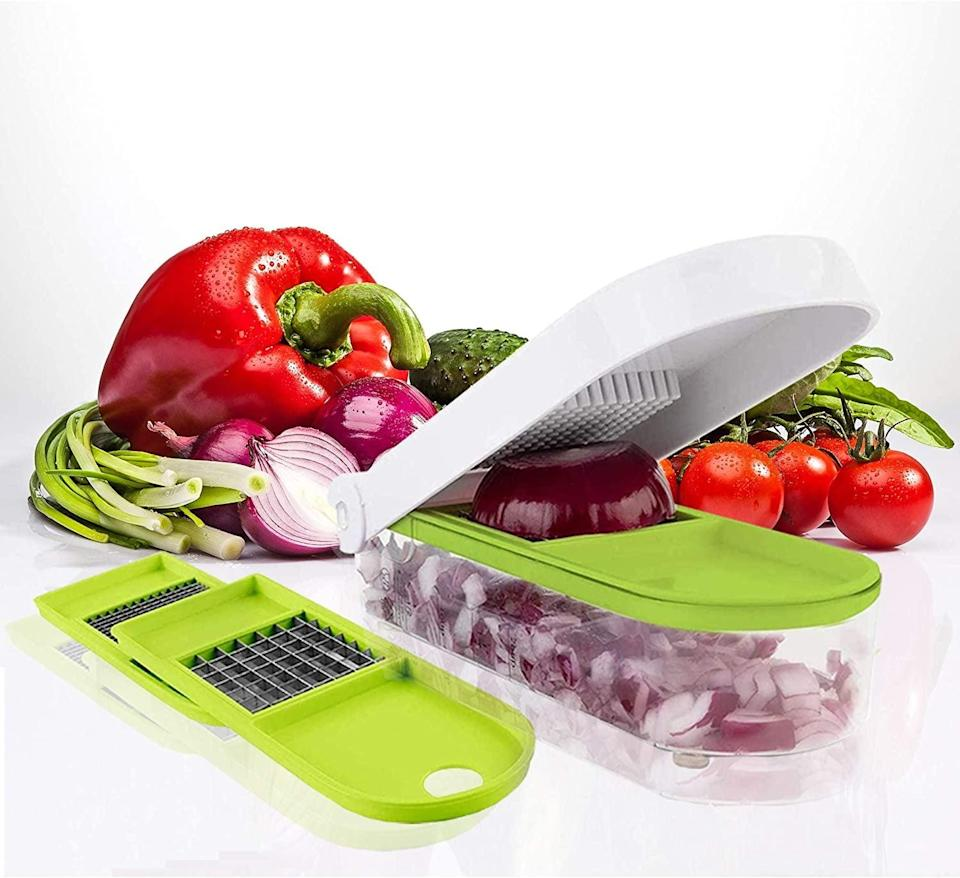 <p>This <span>Vegetable Chopper Pro Onion Chopper</span> ($17) is like having a kitchen assistant to help speed up prepping time. We have a feeling the person who is over chopping will enjoy it.</p>