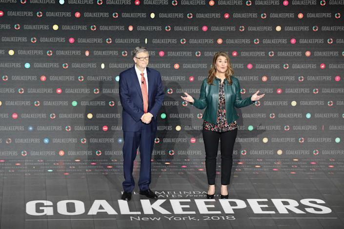 <p>File Image: Bill Gates and his wife Melinda Gates introduce the Goalkeepers event at Lincoln Center on 26 September  2018, in New York</p> (Getty Images)