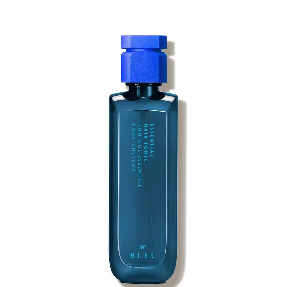 """<p><strong>R+Co Bleu</strong></p><p><strong>$55.00</strong></p><p><a href=""""https://go.redirectingat.com?id=74968X1596630&url=https%3A%2F%2Fwww.dermstore.com%2Fr-co-bleu-essential-hair-tonic-6.8-oz.%2F13175919.html&sref=https%3A%2F%2Fwww.cosmopolitan.com%2Fstyle-beauty%2Fbeauty%2Fg37884764%2Fspring-2022-hair-trends%2F"""" rel=""""nofollow noopener"""" target=""""_blank"""" data-ylk=""""slk:Shop Now"""" class=""""link rapid-noclick-resp"""">Shop Now</a></p><p>Like a <a href=""""https://www.cosmopolitan.com/style-beauty/beauty/g25843731/best-hairspray/"""" rel=""""nofollow noopener"""" target=""""_blank"""" data-ylk=""""slk:hairspray"""" class=""""link rapid-noclick-resp"""">hairspray</a> but better (read: lighter), this hair tonic<strong> gives a little hold and a lot of shine</strong>. Use it to prep damp hair before you style it for soft texture.</p>"""