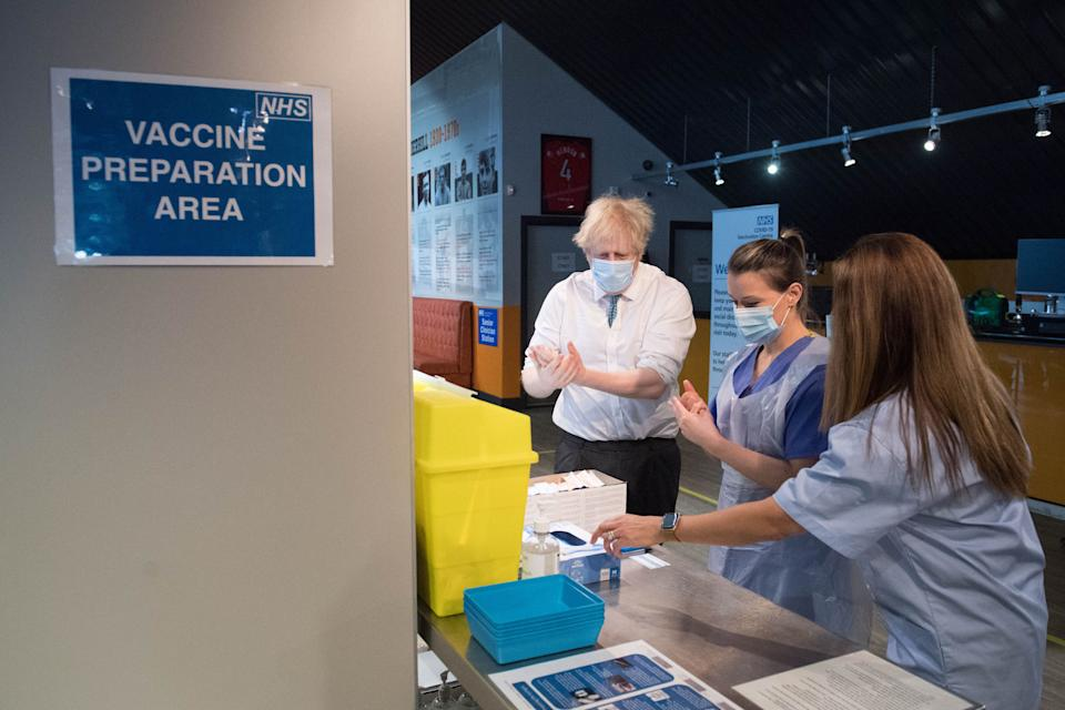 """Boris Johnson has said he has """"total confidence"""" in the supply of vaccines. (Photo: STEFAN ROUSSEAU via Getty Images)"""