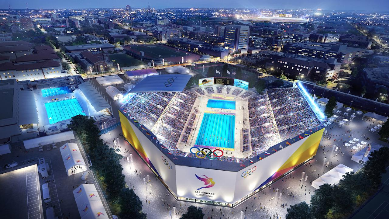 <p>Aquatics Center. (Photo courtesy of LA2024) </p>