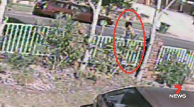 CCTV captured the moment Patea went to grab the murder weapon. Picture: 7 News