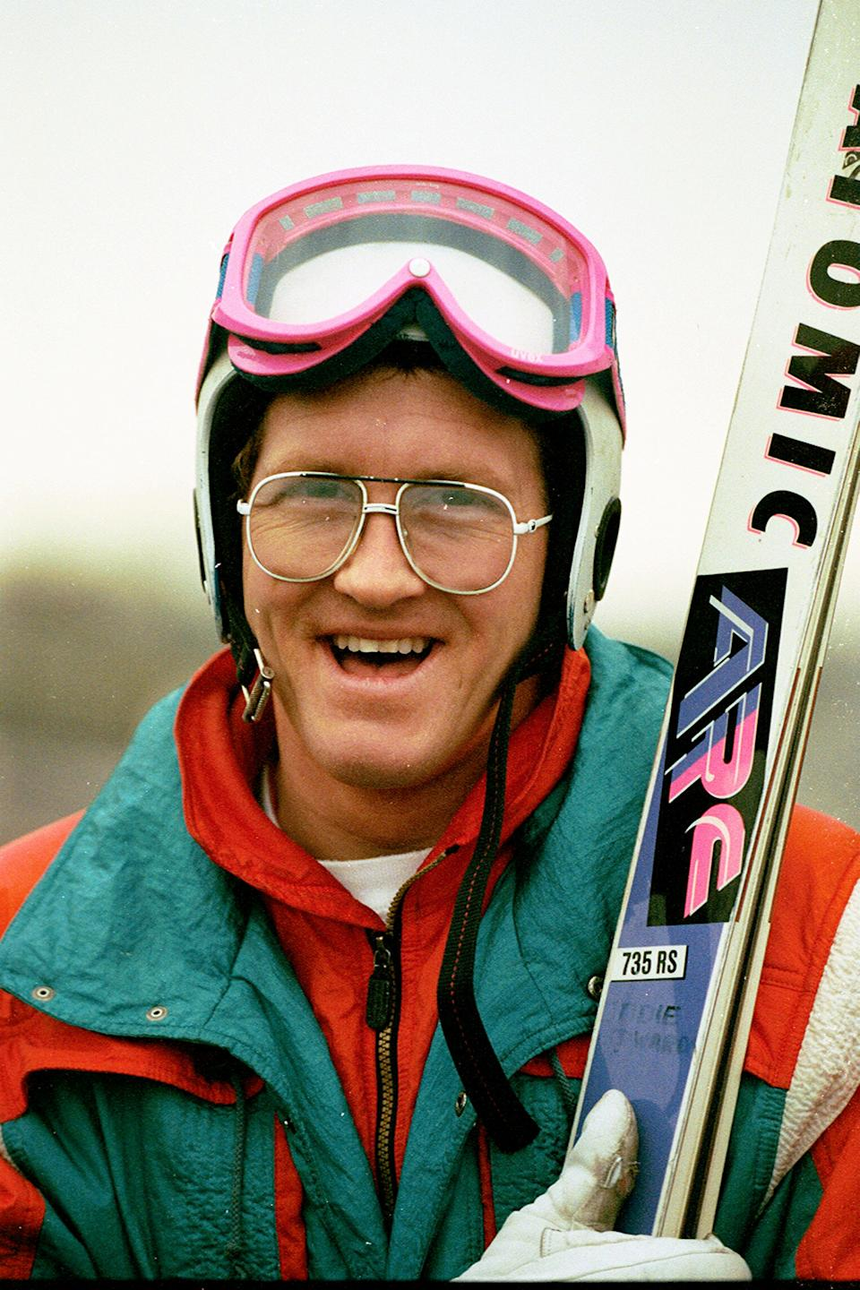 Former British ski jumper, Eddie 'The Eagle' Edwards. (SWNS)