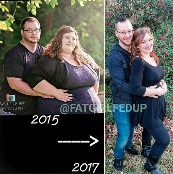 The pair made a New Year's resolution to change their lives. Photo: Instagram