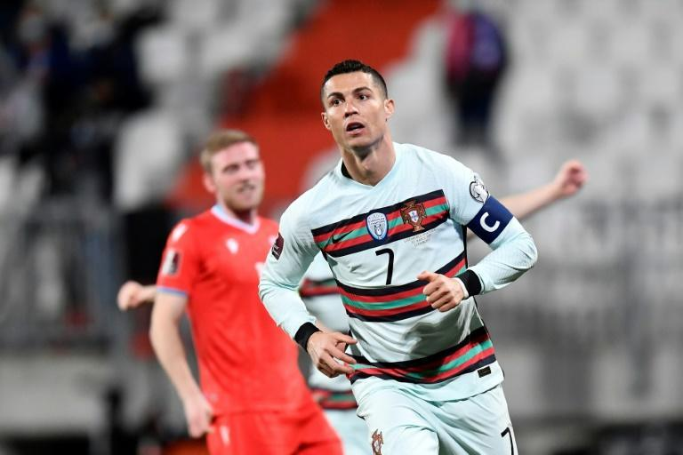 Cristiano Ronaldo's goal on Tuesday was his first of the 2022 World Cup qualifying campaign