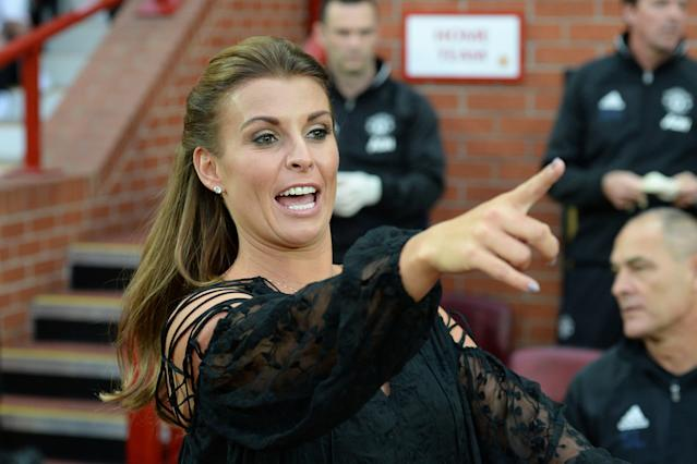 "Coleen Rooney has accused fellow soccer wife <a class=""link rapid-noclick-resp"" href=""/soccer/players/383222/"" data-ylk=""slk:Rebekah Vardy"">Rebekah Vardy</a> of leaking private Instagram stories to the press. (Photo credit: OLI SCARFF/AFP/Getty Images)"