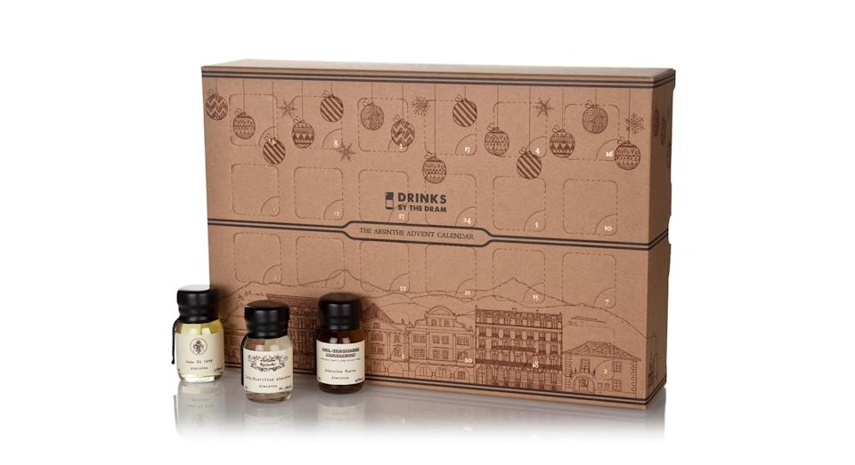 """<p>Not for the fainted hearted (and probably not suitable for brekky) this number has a potent dram of the anise-flavour spirit behind every door. <em><a href=""""https://www.masterofmalt.com/absinthe/drinks-by-the-dram/absinthe-advent-calendar/?srh=1"""" rel=""""nofollow noopener"""" target=""""_blank"""" data-ylk=""""slk:Master of Malt, £139.95"""" class=""""link rapid-noclick-resp"""">Master of Malt, £139.95</a></em> </p>"""