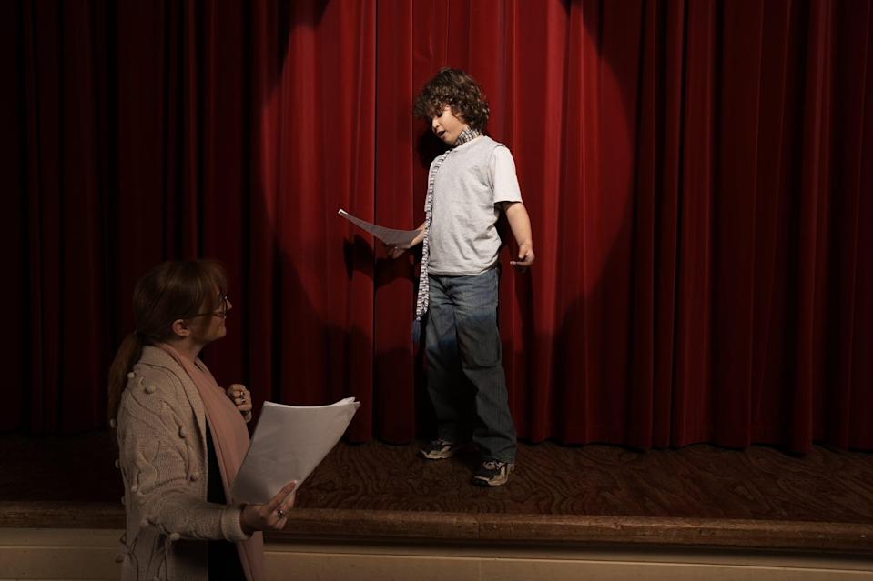 <p>Get out the dress-up clothes, make a stage area (paper trees are optional), and have your kids put on their own play. A script is great, but improv works too! </p>