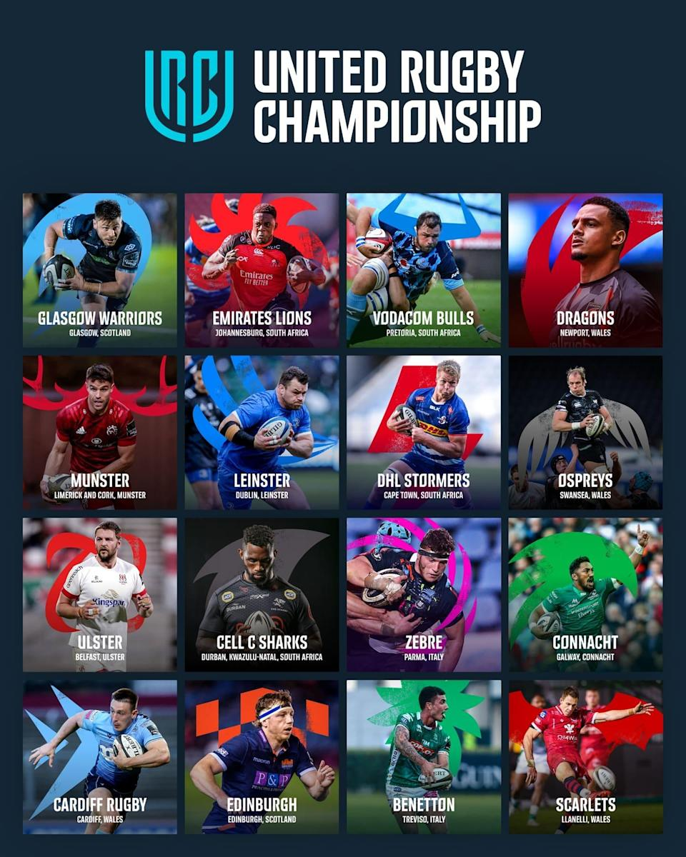 The United Rugby Championship teams