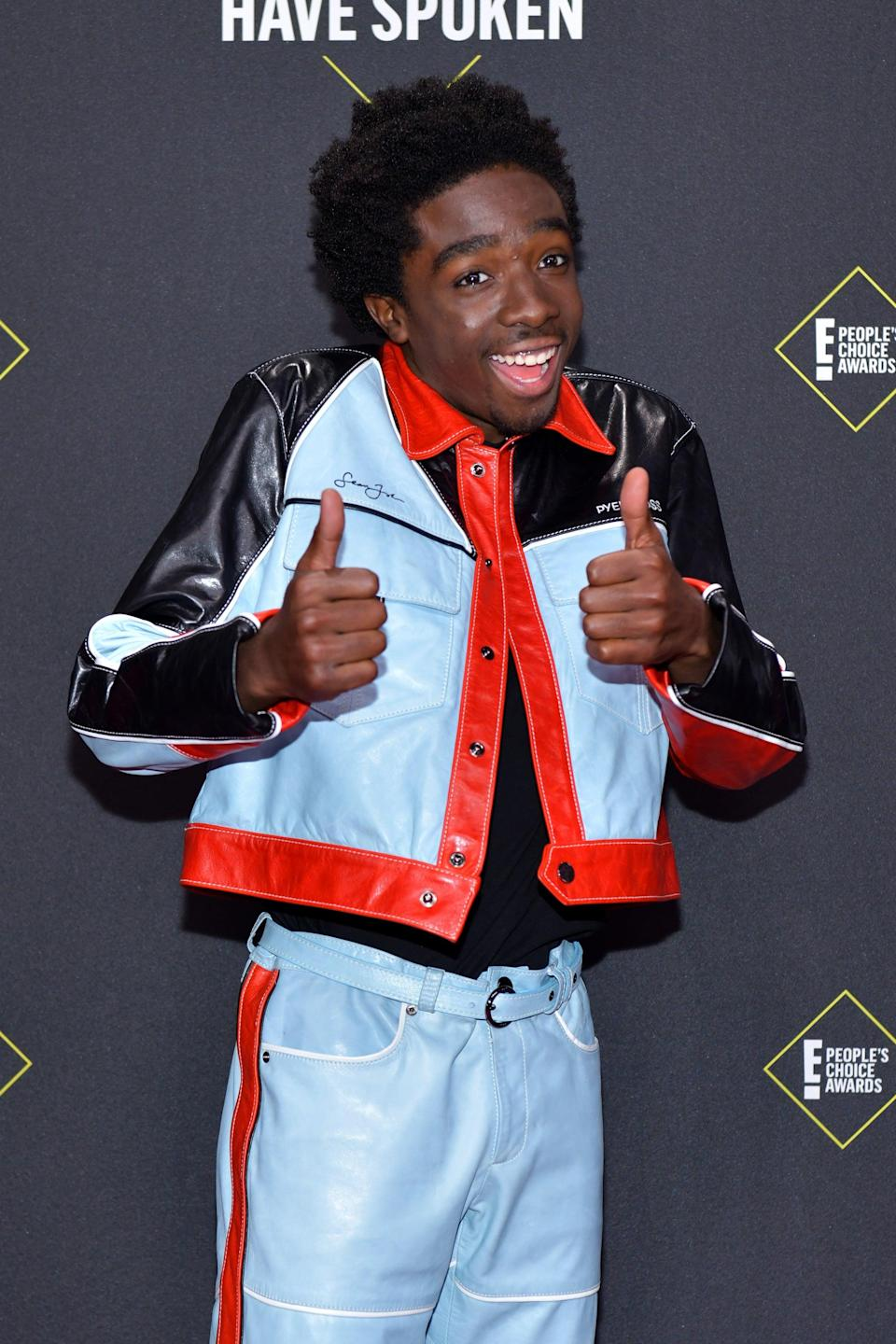 """<p>Not only is <a href=""""https://neuneumedia.com/caleb-mclaughlin-stranger-things-interview/"""" class=""""link rapid-noclick-resp"""" rel=""""nofollow noopener"""" target=""""_blank"""" data-ylk=""""slk:R&amp;B one of his favorite genres"""">R&amp;B one of his favorite genres</a> of music, he portrayed Ricky Bell on BET's <strong>The New Edition Story</strong>. Some of his favorite artists include New Edition, Mint Condition, Jodeci, Joe and Chi. He even has plans to make old-school R&amp;B of his own some day. """"<a href=""""https://www.coupdemainmagazine.com/caleb-mclaughlin/15800"""" class=""""link rapid-noclick-resp"""" rel=""""nofollow noopener"""" target=""""_blank"""" data-ylk=""""slk:I realized how much I love music"""">I realized how much I love music</a>, and I love the art of music - I want to do it,"""" he said in a prior interview with <strong>Coup De Main</strong>. </p>"""