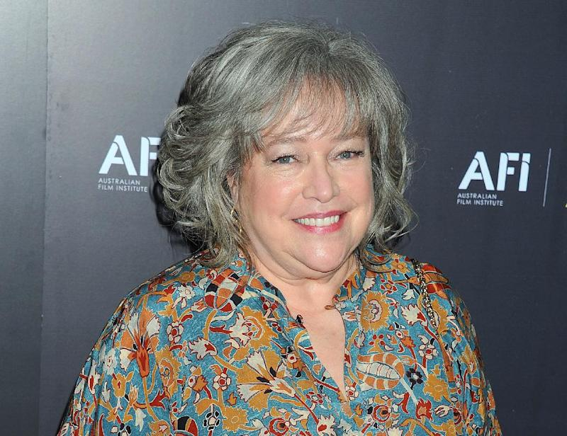 "FILE - This Jan. 27, 2012 file photo shows actress Kathy Bates arriveing at the Australian Academy of Cinema and Television Arts Awards at the Soho House, in Los Angeles. Bates says she is recovering from a double mastectomy. The Oscar-winning actress tweeted on Wednesday, Sept. 12, that she was diagnosed with breast cancer two months ago. But in a separate post, she said she doesn't miss her breasts as much as ""Harry's Law,"" her NBC law drama that was canceled last May.  Bates, 64, told People magazine that she won't have to undergo radiation or chemotherapy. (AP Photo/Katy Winn, file)"