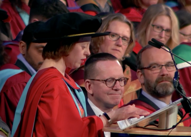 <em>&nbsp;The Call the Midwife star urged fellow graduates to 'believe in yourself' (Picture: University of Nottingham)</em>