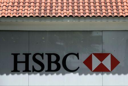 HSBC bank signage is pictured in Singapore, September 5, 2017. REUTERS/Edgar Su