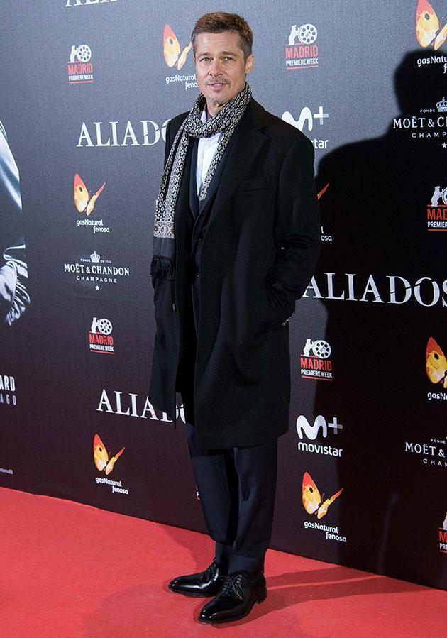 Brad's last red carpet appearance was at the Madrid premiere of Allied on November 22, 2016. Source: Getty