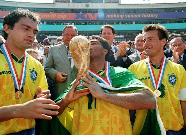 Brazil win the 1994 World Cup in the US, a commercially successful 24-team tournament that played out to packed stadia (AFP Photo/TIMOTHY A. CLARY)