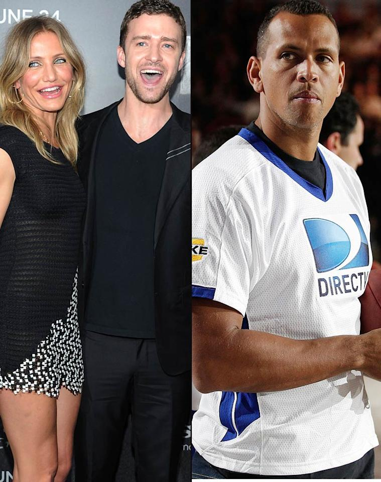 "Following the premiere of ""Bad Teacher,"" Cameron Diaz was ""touchy-feely all night"" with ex-boyfriend and co-star Justin Timberlake, all in an effort to get her ""jealous"" boyfriend Alex Rodriguez to commit, reports <i>Star</i>. The mag says Diaz feels that by getting ""extremely cozy"" with Timberlake, it will finally make Rodriquez pop the question. For whether Diaz's ""reverse psychology"" plan is beginning to work, and what Rodriguez has surprisingly already done, click over to <a href=""http://www.gossipcop.com/cameron-diaz-marriage-alex-rodriguez-jealous-justin-timberlake/"" target=""new"">Gossip Cop</a>. Jason Kempin/<a href=""http://www.gettyimages.com/"" target=""new"">GettyImages.com</a>, Christopher Polk/<a href=""http://www.gettyimages.com/"" target=""new"">GettyImages.com</a>"
