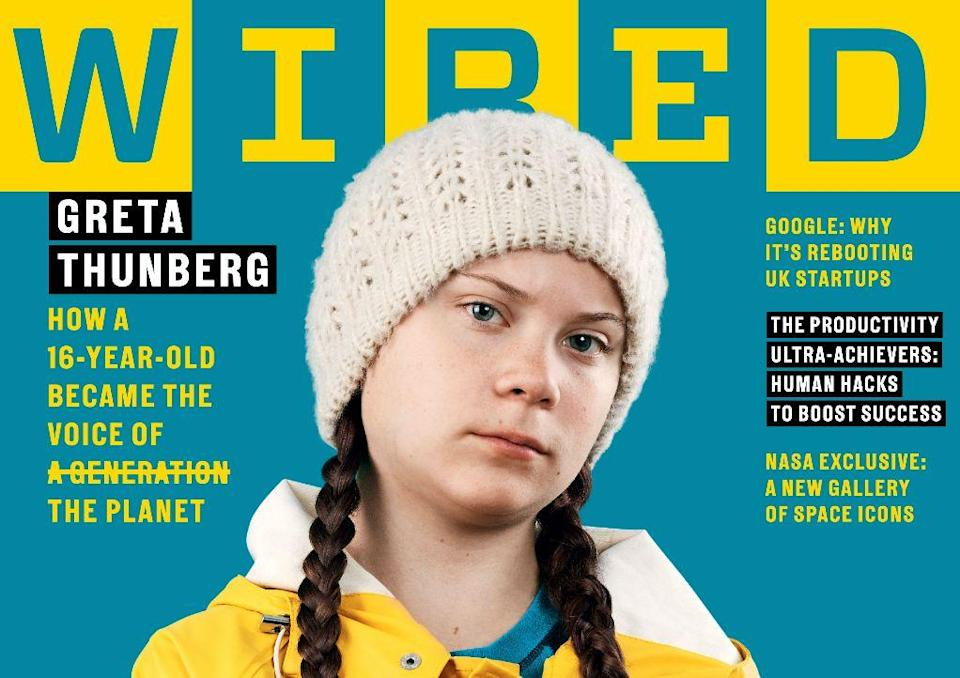 """Greta Thunberg told Wired UK she doesn't see herself as an """"icon"""". [Photo: Getty]"""