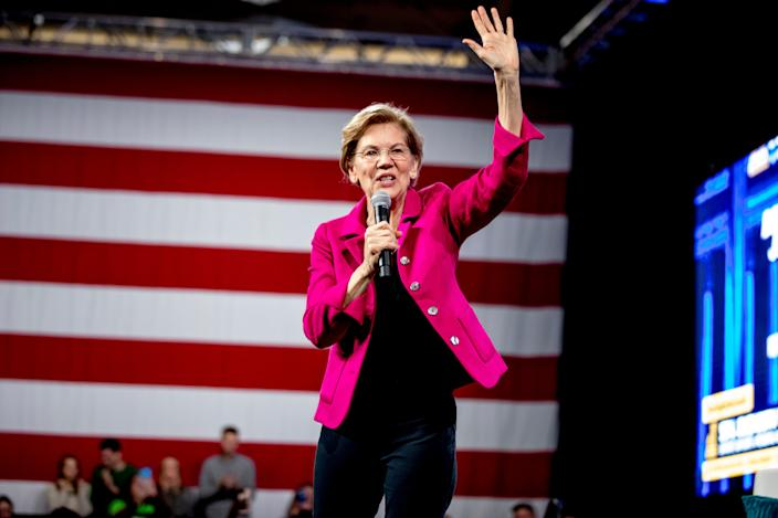 Sen. Elizabeth Warren, D-Mass., was the top pick for a running mate in a poll.