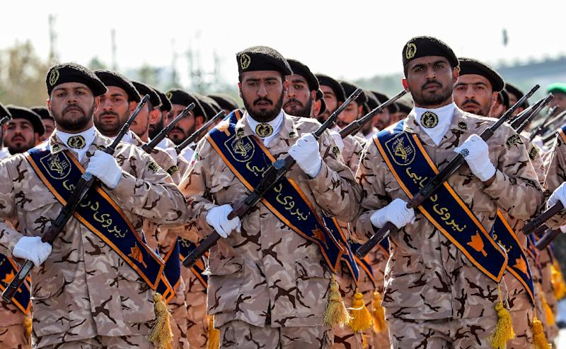 "Washington said Iran's Revolutionary Guards Corps poses an ""imminent"" threat to Americans in Iraq (AFP Photo/STR)"