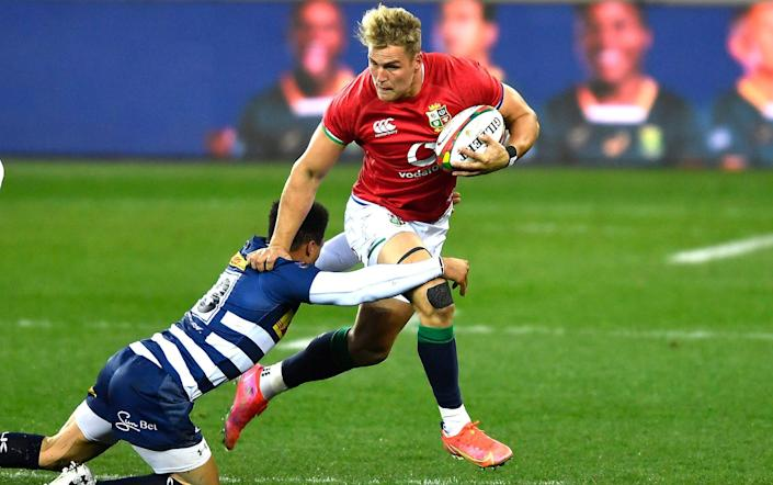 Van der Merwe tries to evade a tackler during the Lions vs Stormers tour match - Ashley Vlotman/Gallo Images/Getty Images